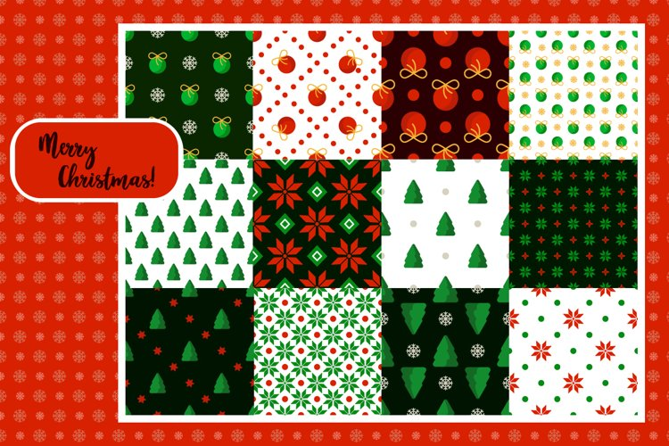 Christmas abstract patterns vol.1 example image 1
