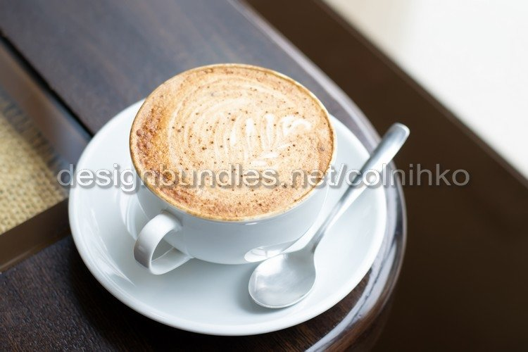 White Cup of latte art Cappuccino