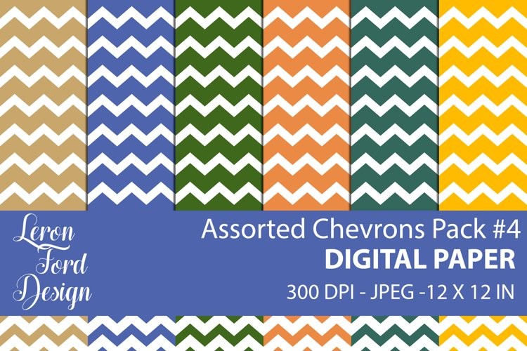 Assorted Chevrons Pack #4 Digital Paper example image 1