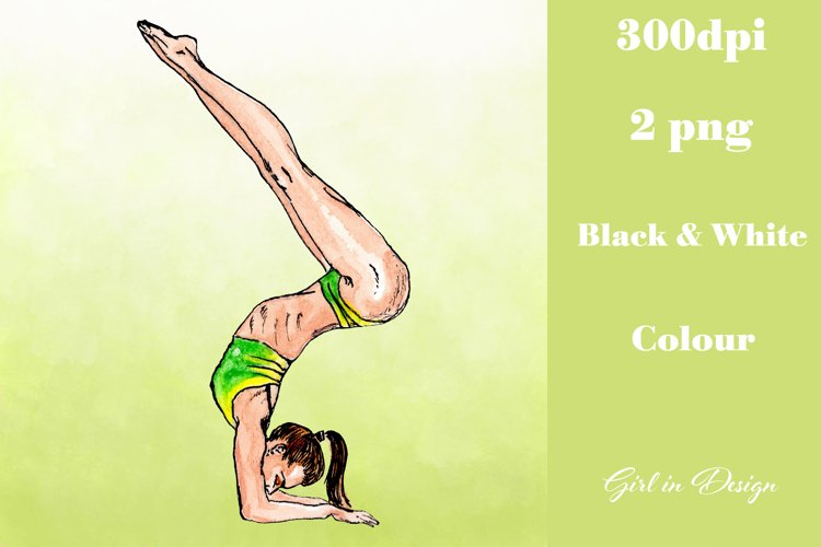Sport Yoga Girl Clipart example image 1