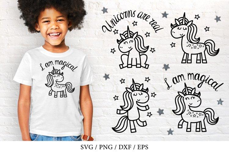 Magical unicorns bundle SVG, PNG, DXF