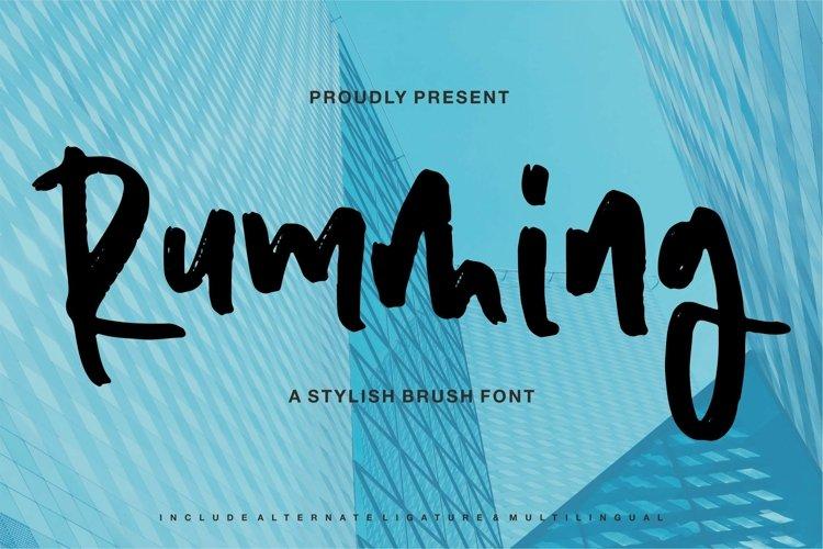 Web Font Rumming - A Stylish Brush Font example image 1