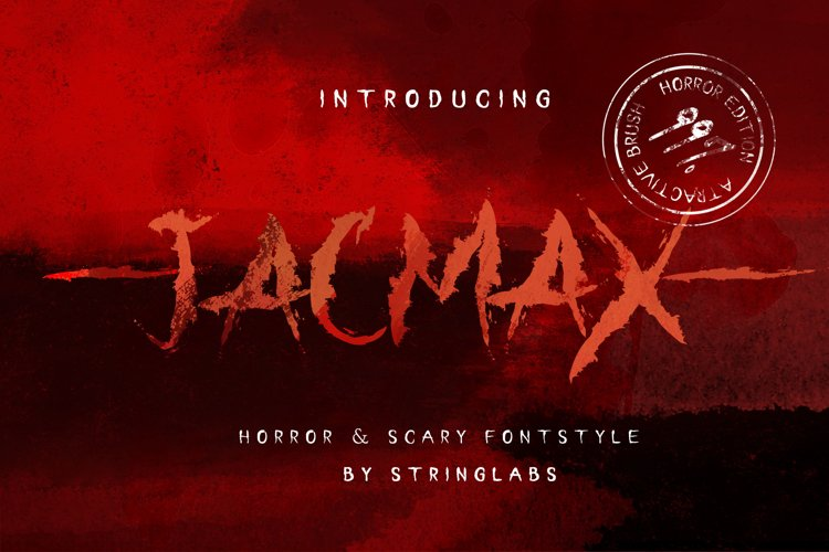 Jacmax - Horror Font example image 1