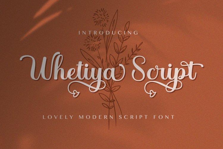 Whetiya - Love Script Font example image 1