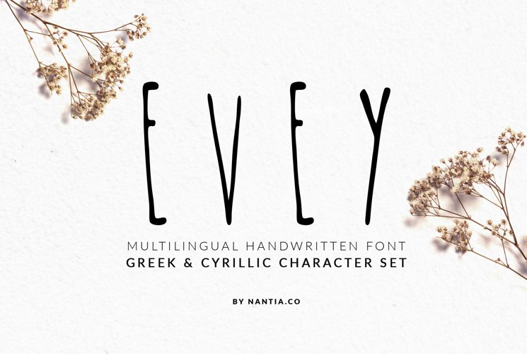 EVEY Handcrafted Multilingual Font example image 1