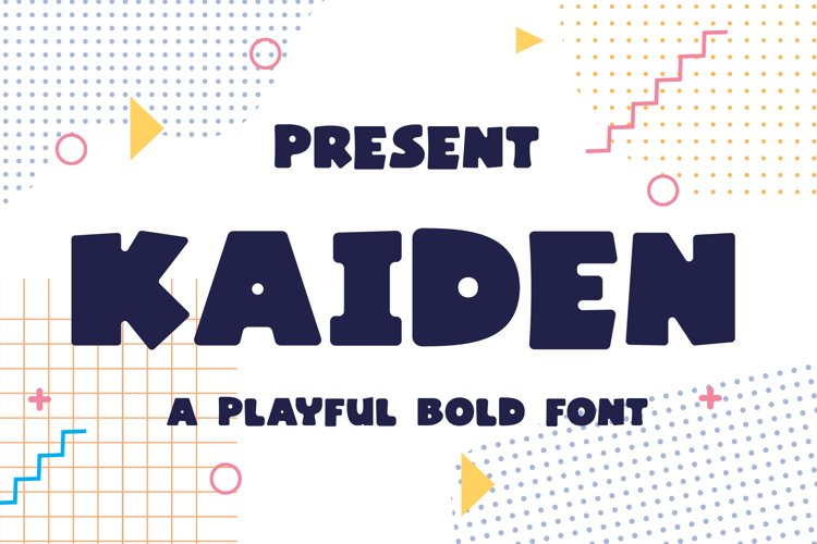 Kaiden Typeface - A Playful Bold Font example image 1