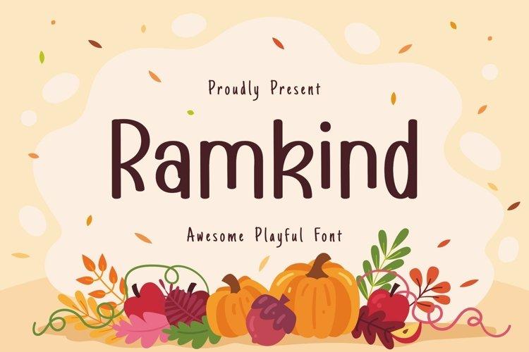 Web Font Ramkind Display Font example image 1