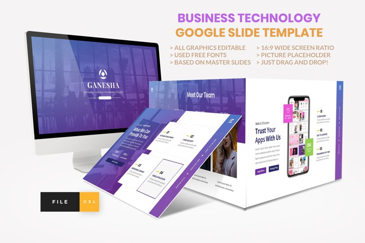 Business - Technology Google Slide Template example image 1