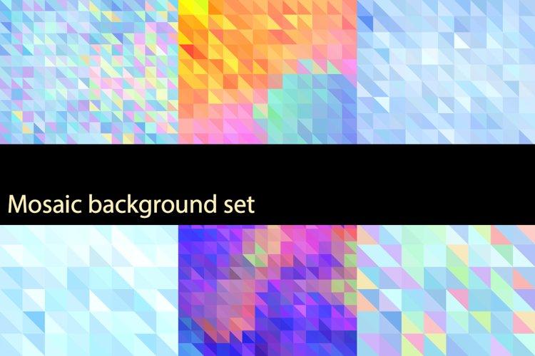 Mosaic background set example image 1