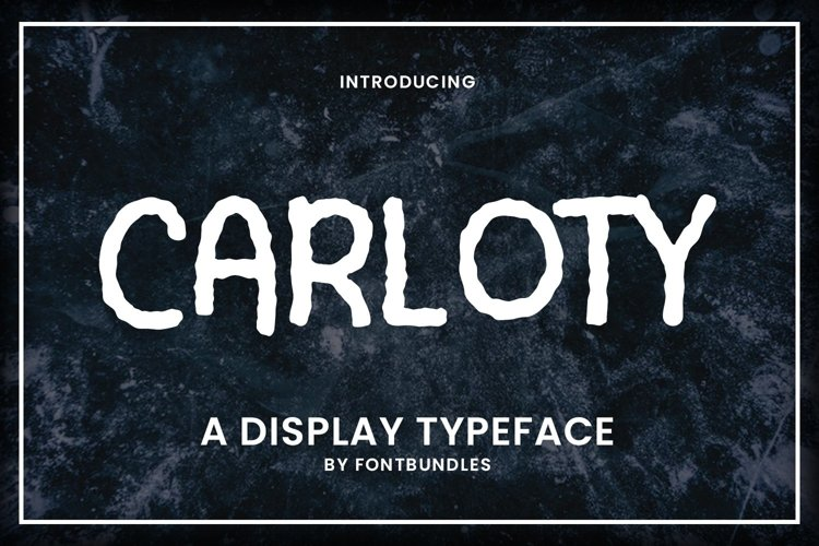 Web Font Carloty example image 1