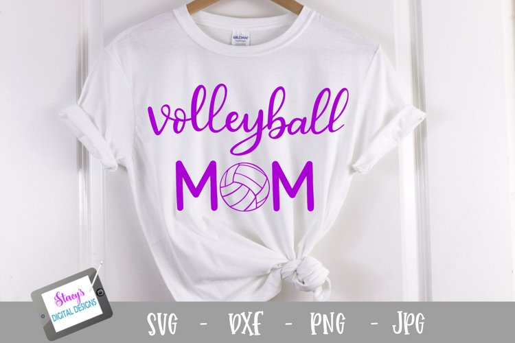 Volleyball mom SVG - Sports mom SVG file, handlettered example image 1
