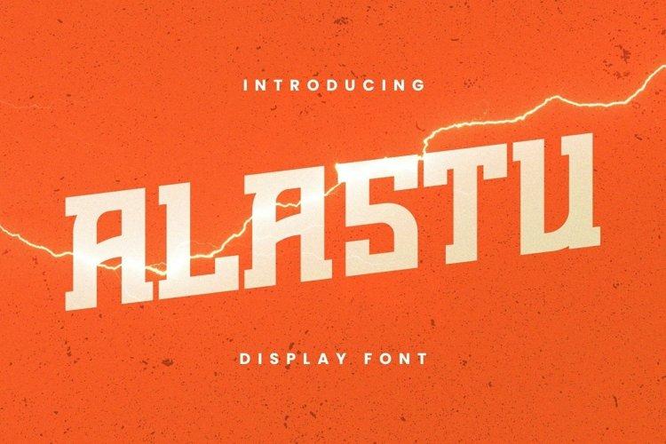 Web Font Alastu Font example image 1