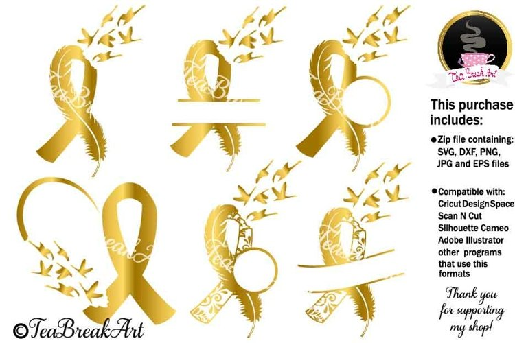 Ribbon with swans Svg Cutting files 1231C