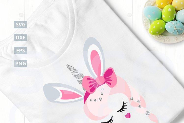 Bunny Unicorn SVG Cut File, svg, dxf,eps, png