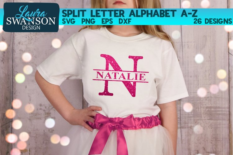 Split Letters A-Z - 26 Split Monogram SVG files