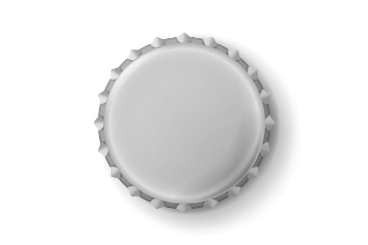 Beer Cap Vector. Metallic Bottle Cap Isolated On White