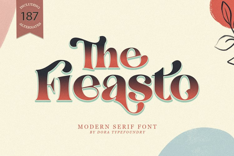 The Fieasto/Modern serif Font example image 1