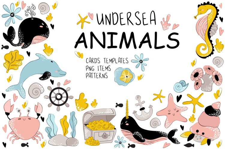 Sea Animals - Vector Collection example image 1