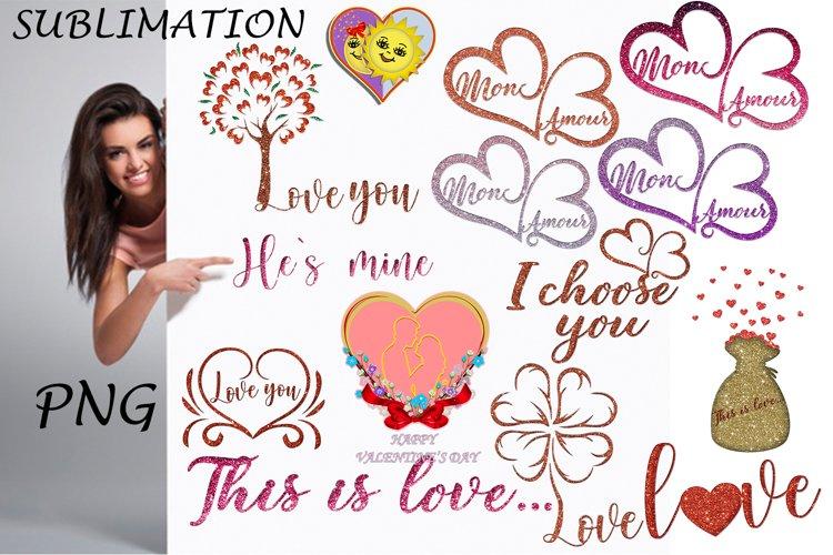 Valentines PNG, Bundles PNG, Sublimation example image 1
