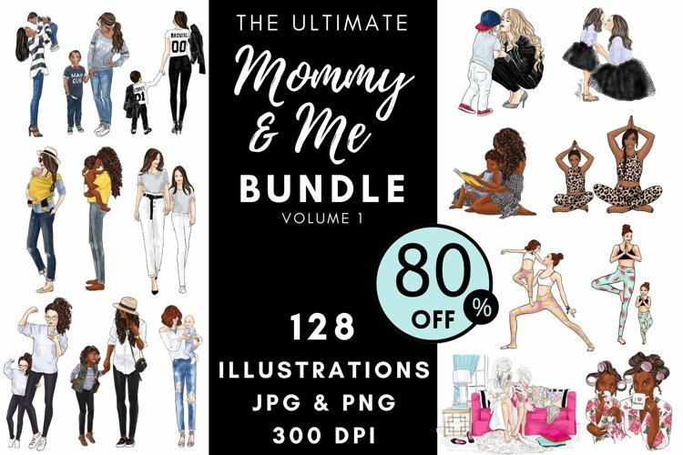 The Ultimate Mommy & Me Bundle Clipart