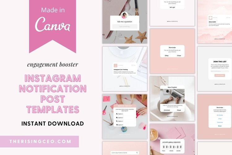 20 Instagram Notification & Reminder Templates For Canva