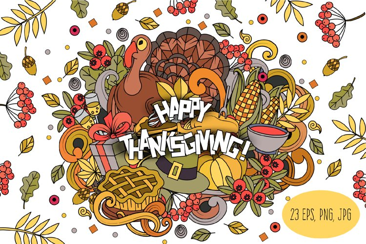 Thanksgiving png clipart Autumn scrapbook digital paper example image 1