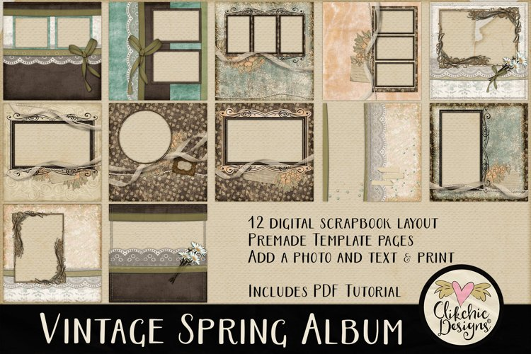 Digital Scrapbooking Quick Page Album - Layout Templates example image 1