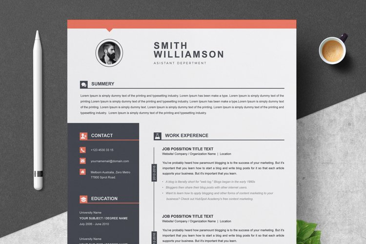 Resume / CV Template example image 1