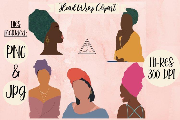 Black Girl Clipart Head Wrap