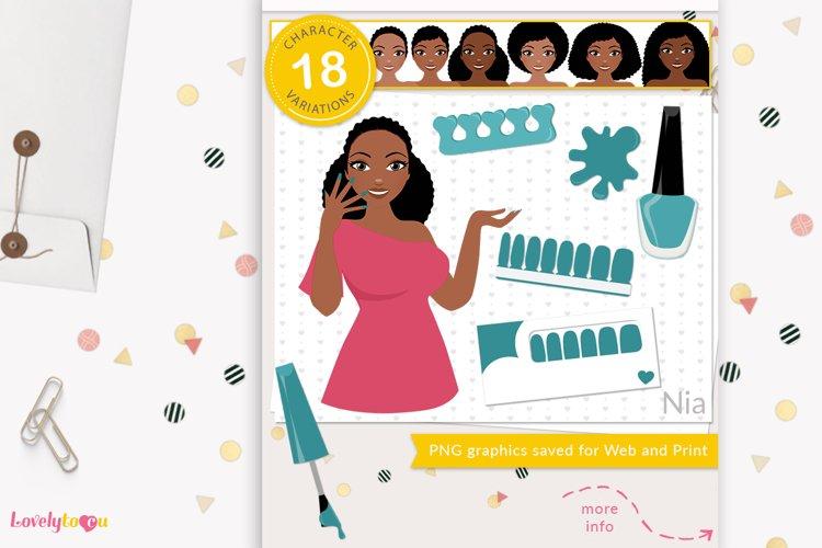 Nail wrap girl, nail art woman, nail strips - LVY23 Nia example image 1