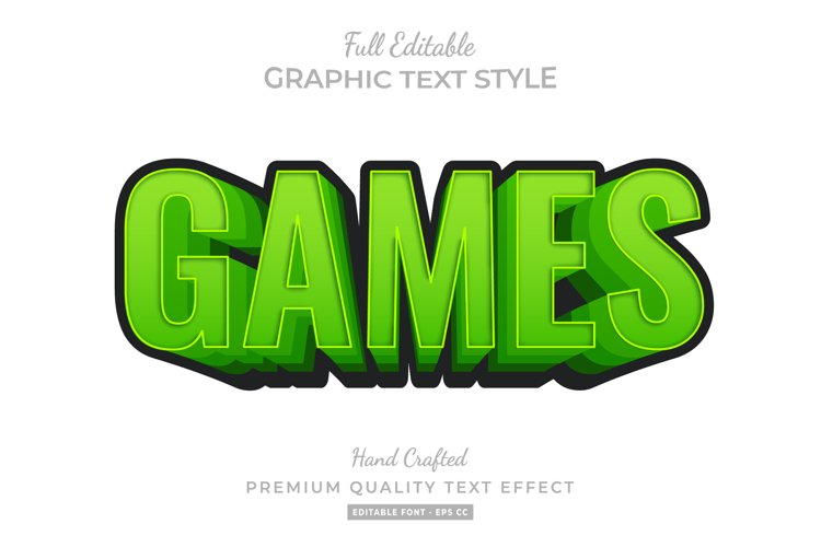 Cartoon Games Text Style Effect Premium example image 1