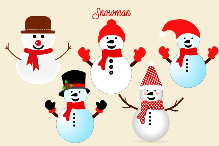 Snowman Png Pack