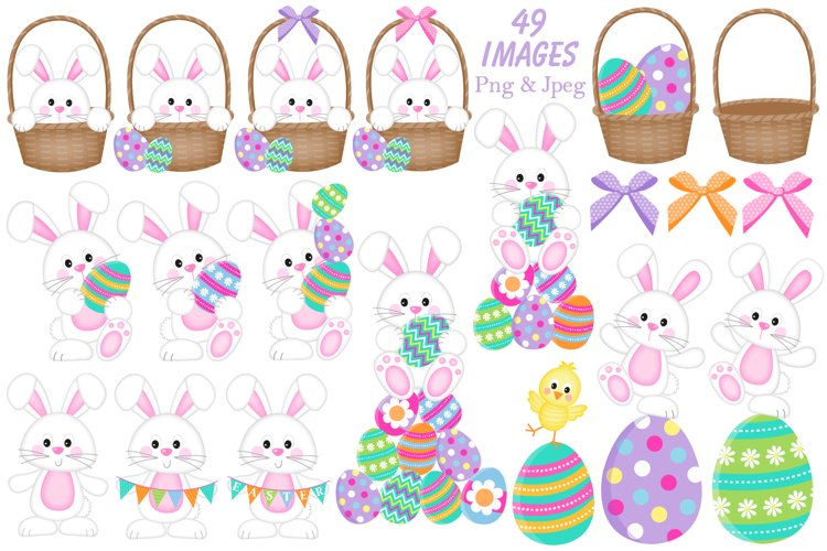 Easter clipart, Easter bunny graphics & illustrations - Free Design of The Week Design0