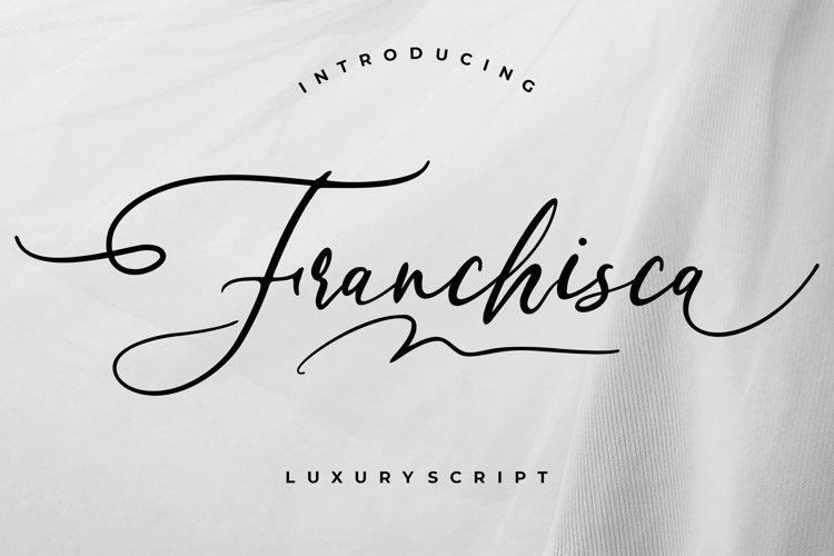 Franchisca Luxury Script example image 1