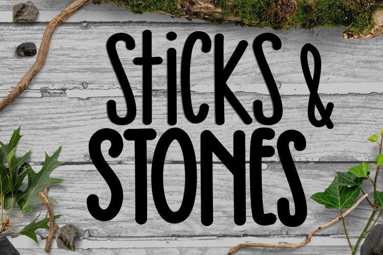 Sticks & Stones - A Thin and Thick Font Duo example image 1