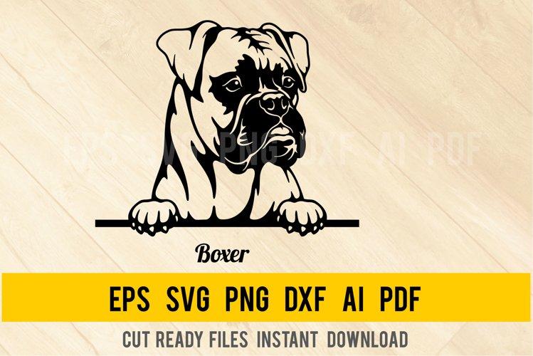 Boxer DOG SVG Peeking Dog SVG Head Dog R