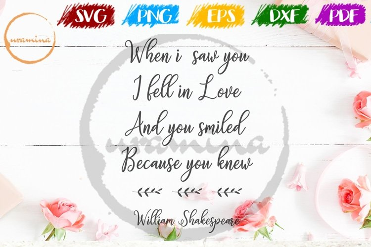 When I Saw You Valentine SVG PDF PN example image 1
