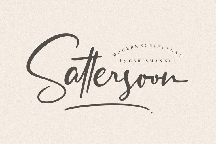 Sattersoon - Modern Script Font example image 1