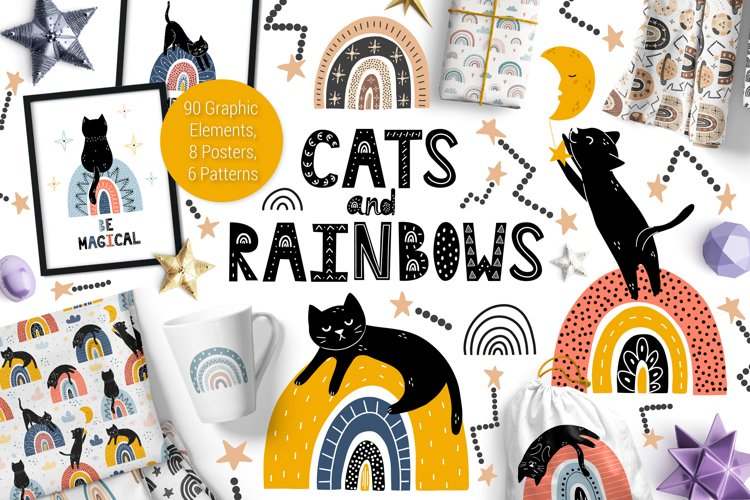 Cats and Rainbows Graphic Pack