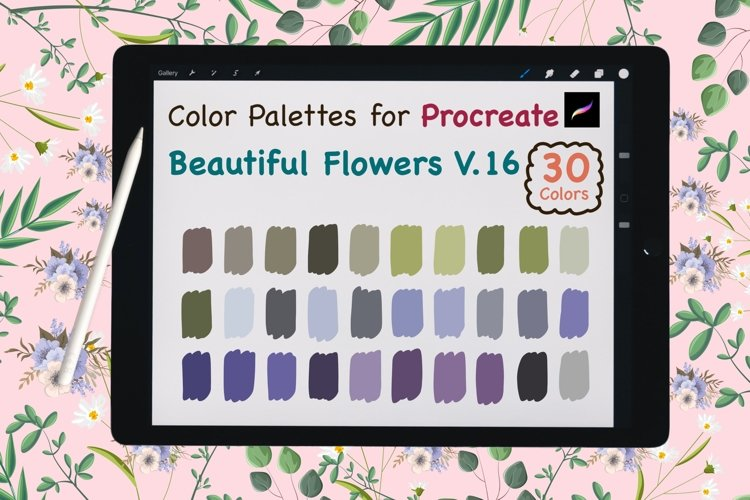 Color Palettes set for Procreate - Beautiful Flower V.16 example image 1