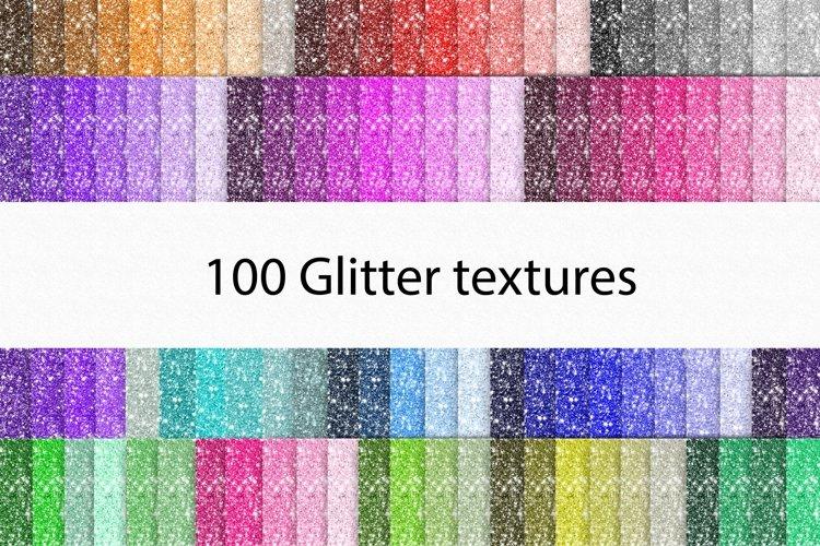Glitter digital paper 100 colours glitter textures