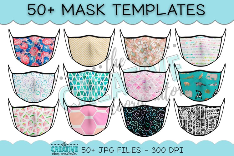 Face Mask Sublimation Templates