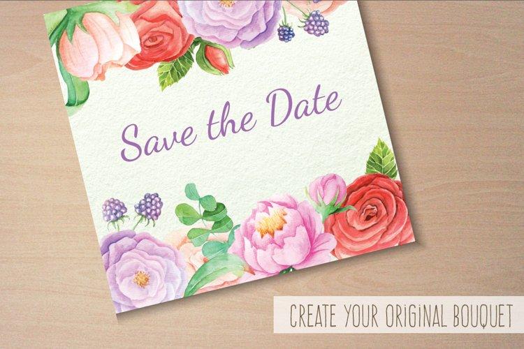 Watercolor Floral DIY Set - Free Design of The Week Design4