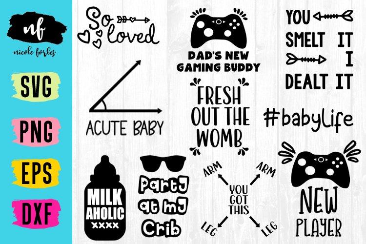 Baby Onsie SVG Bundle