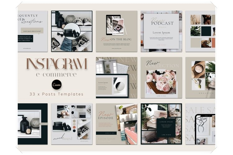 e-Commerce Instagram Posts Templates for Canva