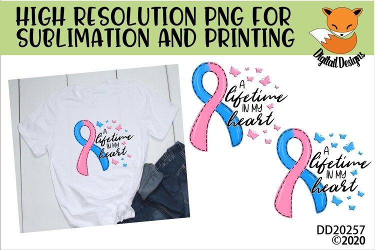 Lifetime In My Heart Pregnancy Loss Miscarriage Sublimation