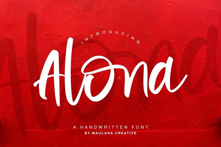 Alona - Handwritten Font example image 1