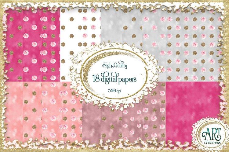 Glitter digital paper-pink,white,gold-digital textures JPEG example