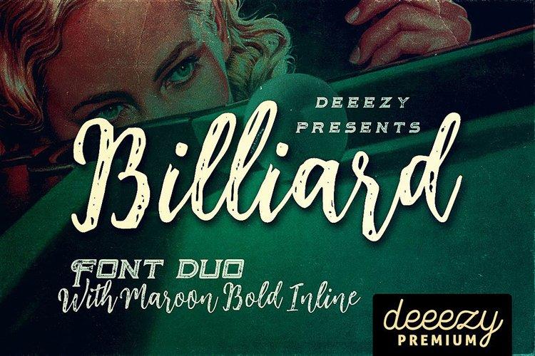 Billiard Font Duo example image 1