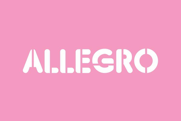 Allegro Round Stencil Font example image 1